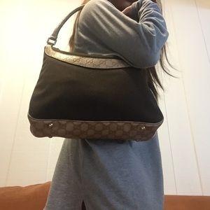 Gucci Canvas/Leather Guccissima Hobo Bag